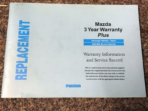 Service book, Mazda MX-5 mk1 1.6, 1997, MCAG2117B, Replacement, USED